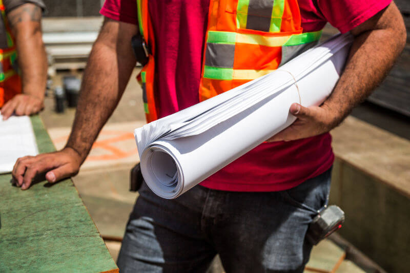 Construction Officer Roll of Paper